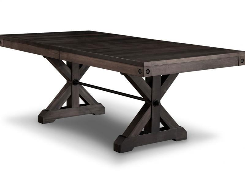 Handstone Rafters Trestle Table Canadian Made Solid Wood Ontario